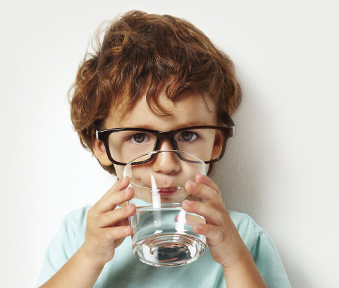 Boy Drinking Clean Water